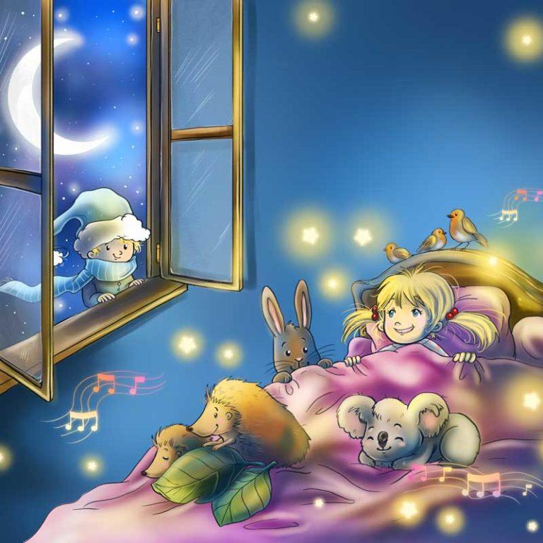 Hörbuchcover Illustration Schlaflieder