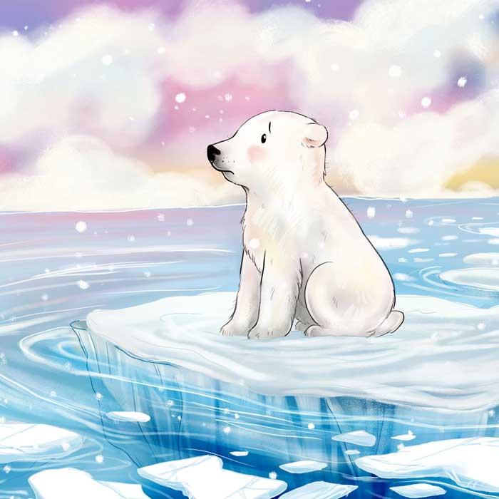 Illustrationen Bilderbuch Kleiner Eisbär