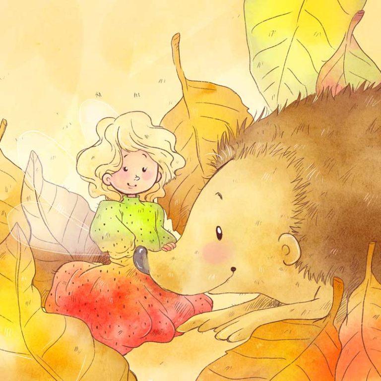 Kinderbuchillustrationen Kleine Elfe