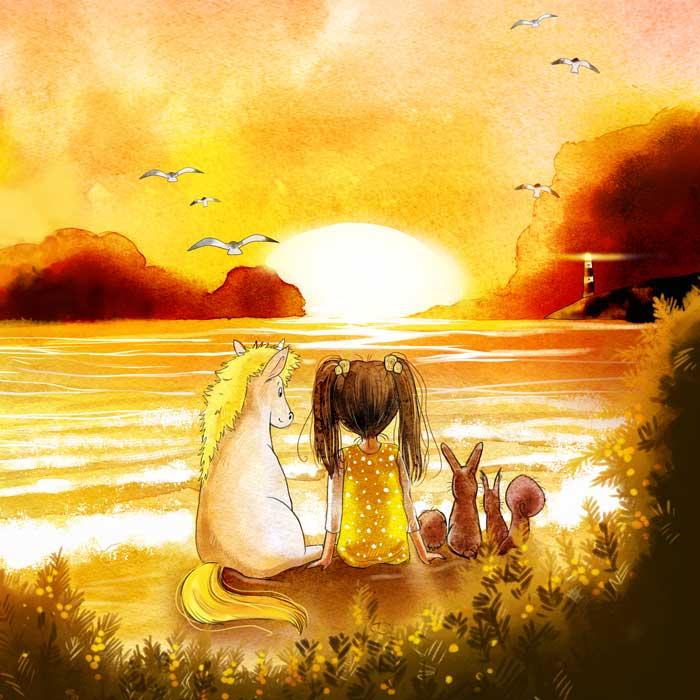Kinderbuchillustration Aurelia