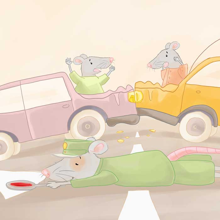 Kinderbuchillustrationen Ratte Ricky