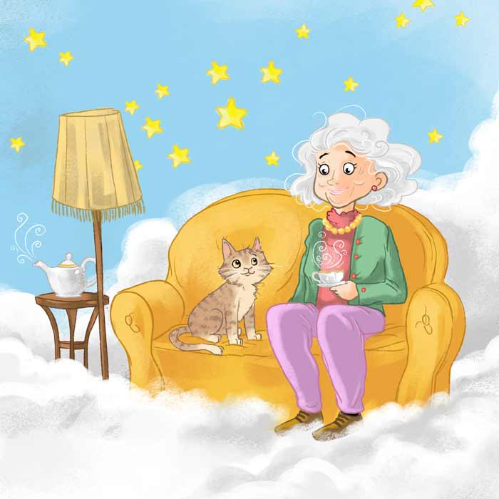 Illustrationen Lesebuch Oma Betty