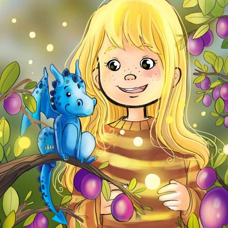 Kinderbuchillustration Kleiner Drache