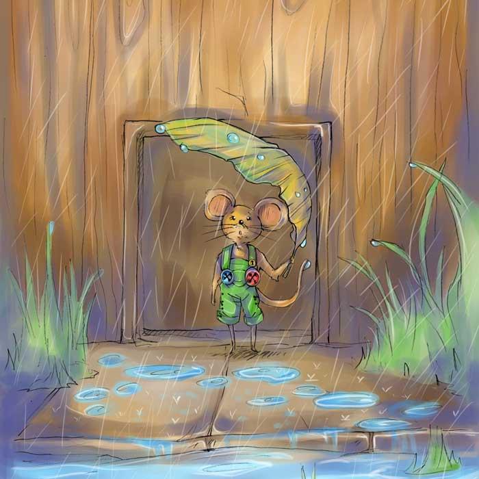 Kinderbuchillustration Die Mäusemarie